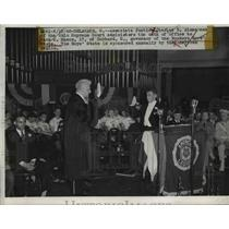 1948 Press Photo Charles B. Zimmerman, oah of office to Jack O Mason Delaware