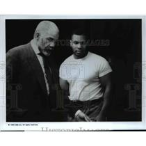 1992 Press Photo Ed Bradley, Mike Tyson, Street Stories