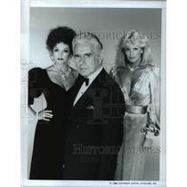 """1986 Press Photo Joan Collins John Forsythe Linda Evans in """"Dynasty"""" - cvp45919"""