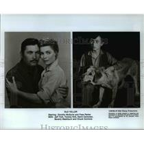 1985 Press Photo Dorothy McGuire Fess Parker Tommy Kirk in Old Yeller