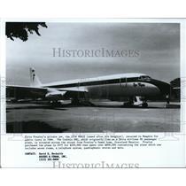 1987 Press Photo Elvis Presley Airplane Lisa Marie