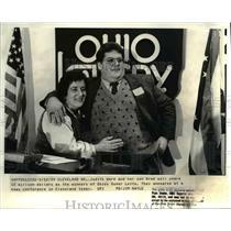 1989 Press Photo Judith Ward & son Gregg share in 15 million Super Lotto
