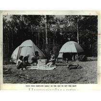 1988 Press Photo Campsite