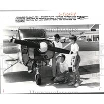 1991 Press Photo Student Pilots learns to fly planes in Chasers