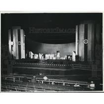 1938 Press Photo General view of open air stage as seen from Aquaditorium