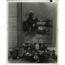 1977 Press Photo The flower arrangements for potted spring bulb - cva60659