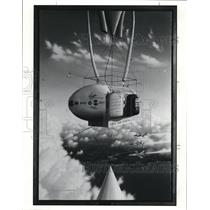 Press Photo Earthwinds float above cloud's in artist's conception