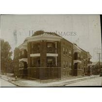 1914 Press Photo Cleveland Apartments