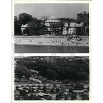 1988 Press Photo Cedar Point Amusement park