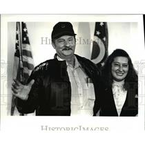 1988 Press Photo Orville and Anna Walker, Ohio lottery winners