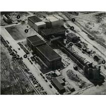 1949 Press Photo Aerial view of NACA's supersonic wind tunnel to be completed