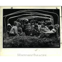 1985 Press Photo Parma Cub Scout Troop at Mill Stream Reservation Metropark