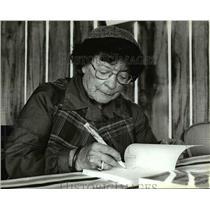 1983 Press Photo Adelma Grenier Simmons The Herb Lady
