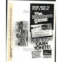 1980 Press Photo The Ohio Lottery
