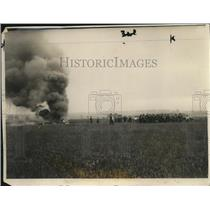 1927 Photo Capt Pelletier d'Oisy Lt Gonin survive burning plane crash