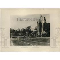 1919 Press Photo 200 meter Hurdles Trials, Int'l Allied Games, Pershing Stadium