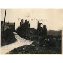 1927 Press Photo St. Pierre L'aigle, France. American Barracks made into Church