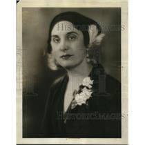 1931 Press Photo Mrs. Maude Bouldin, Social Secretary at Hotel Belmont