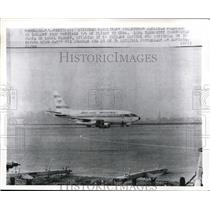 1970 Press Photo of the hijacked Aerolineas Argentinas