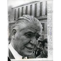 1968 Press Photo Percy Foreman Leaving Trial of James Earl Ray in Memphis, TN