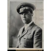 1938 Press Photo Colonel Attilio Bisco Mussolini Presonal Assistant Rome Italy