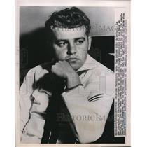 1951 Press Photo Aviation Machinist mate Tom Amburn seen waiting for his flight
