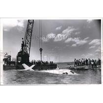 1968 Press Photo Jet plane that crashed into Lake Erie