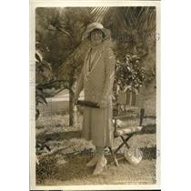 1927 Press Photo Mrs Moorehead of Lenox Philadelphia at Nassau Bahamas