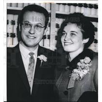 1960 Press Photo Berkeley Calif Dr Don Glaser ,Nobel in physics weds R Thompson