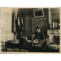 1927 Vintage Press Photo Gen. Henri Gourand in his office in Paris
