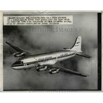 1956 Press Photo A Trans-Canada North Star plane in the air