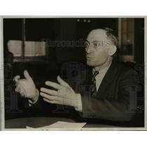 1938 Press Photo John T Pace Testifies Dies Committee on Communism in Washington