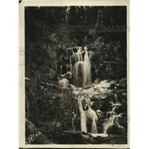 1925 Press Photo Waterfalls on Doyles Run at Browns Cove