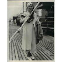 1933 Press Photo Dorothy Ruether California Aviatrix