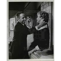 1960 Press Photo Actor Dick Wesson, Elaine Stritch