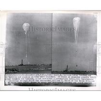 1962 Press Photo Navy Balloon Launch of Astronomer William C. White, New Mexico
