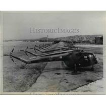 1958 Press Photo Sycamore Helicopters at Bristol Aeroplane Company Plant England