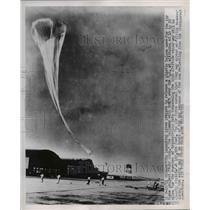 1951 Press Photo Wash DC balloon launch of Moby Dick forhigh altitude tests