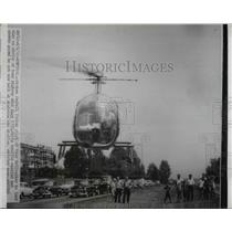 1955 Press Photo Broken Fabelt forced pilot out of helicopter