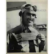 1937 Press Photo Navy Cadet Flyer William R Staggs Wins Old Gold Puzzle Contest
