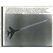 1961 Press Photo F-100 Jet Interceptor Plane Fires Missile