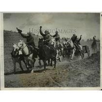 1931 Press Photo Chinese artillerymen on manuevers