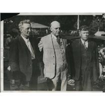 1933 Press Photo Kansas Prison Warden Kirk Prather, LA Laws & J Sherman