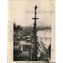 1921 Press Photo The Munster Tower in Basle, Switzerland