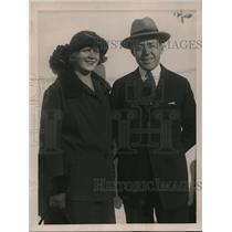 1922 Press Photo Mr. & Mrs. Frank Coppicus arrive in New York on the SS Homeric
