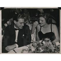 1936 Press Photo Miss Mimi Richardson & Stuart S. Scheftel