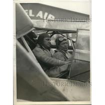 1930 Press Photo Herbert Partridge and Lt Com George Pond
