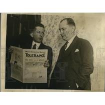 1922 Press Photo Grady K Rutledge American Unity League & Newfield Jones