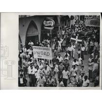 1931 Press Photo Ciudad Trujillo Dom Republic Univ students anti govt protest