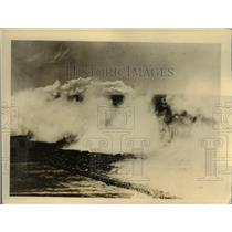 1924 Press Photo Smokescreen Dropped by Navy Plane in NJ